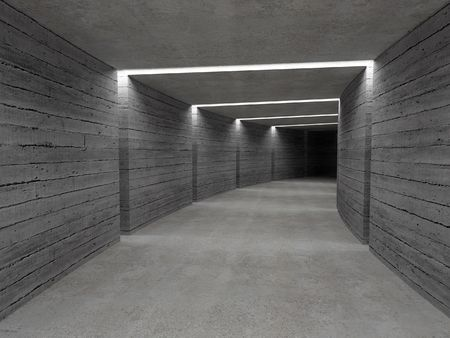 fine image 3d of concrete tunnel background Stock Photo - 3930317