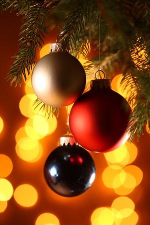 fine image of christamas ball background photo