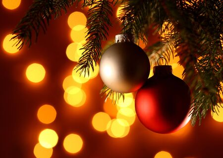 fine image of christmas background and blur lights photo