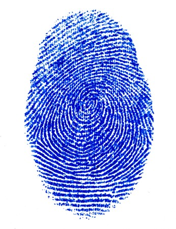 fine image of blue finger print background photo