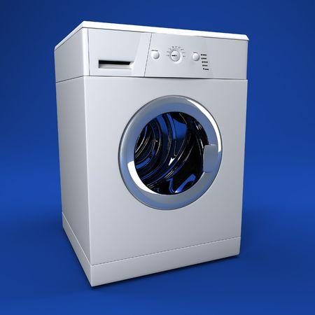 soggy: fine image 3d of classic washing machine background Stock Photo