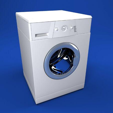 feine Bild 3d der klassischen Waschmaschine-Hintergrund