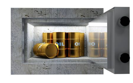 fine 3d image, oil tank in safety box photo