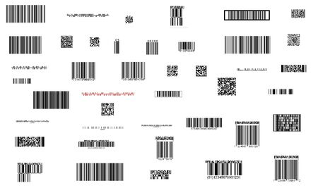 fine image of different barcode background photo