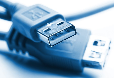 fine close up image of usb plug background selective focus Stock Photo - 4030185