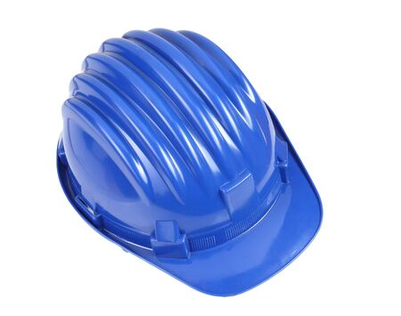 fine detail of classic blue worker helmet Stock Photo - 4030249