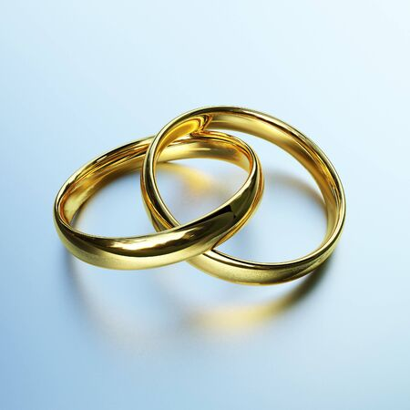 3d image of classic gold rings background photo