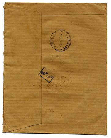 fine isolated image of brown vintage envelope Stock Photo - 4155585