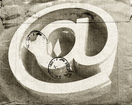 fine image of grunge email symbol on vintage envelope Stock Photo - 4155589