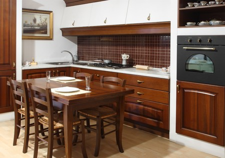 fine image of classic wood style kitchen photo