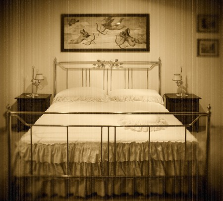 old fashion bedroom grunge film image Stock Photo - 4308605