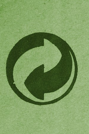 fine close up image of recycle symbol background Stock Photo - 4234870