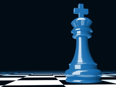fine image 3d of blue  chess background Stock Photo - 4234859