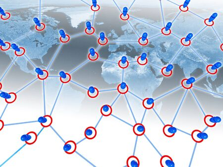 image 3d global connection metaphoric business background Stock Photo - 4234876