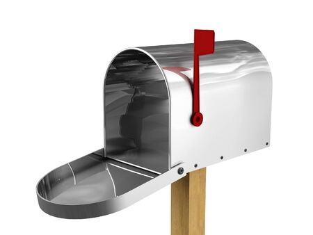 fine 3d image of classic american metal mailbox Stock Photo - 4234873
