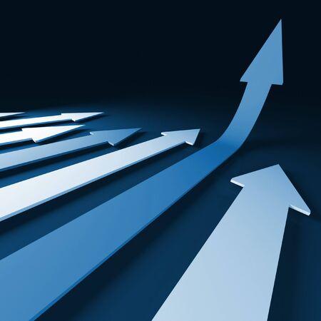 grow 3d  arrow stat financial graph background