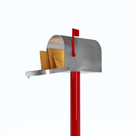 fine 3d image of classic american mail box photo