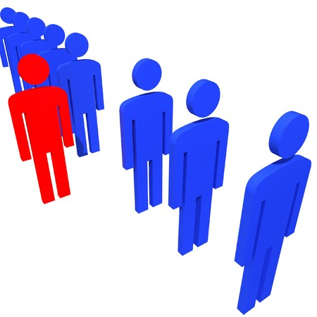 be different: business team people metaphor, be unique be different