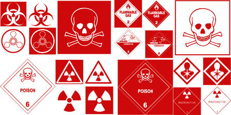 fine hazard danger vector red danger collection Vector