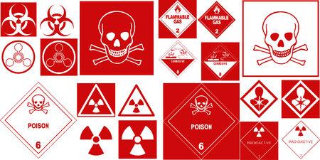 adjusting activity: fine hazard danger vector red danger collection