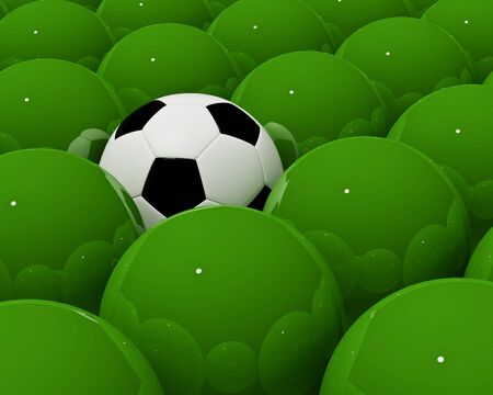 fine 3d image of lonely soccer ball rendering background photo