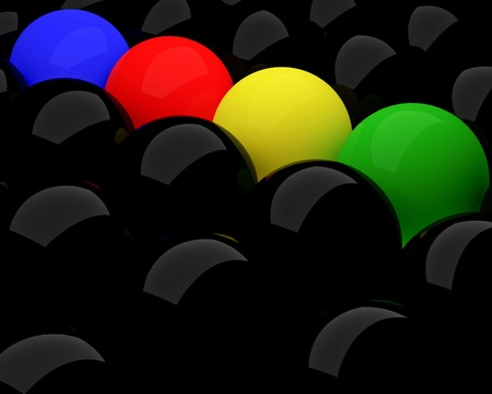 organized: fine image 3d of different colorful balls background