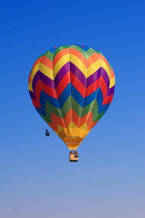 fine image of hot air balloon background photo