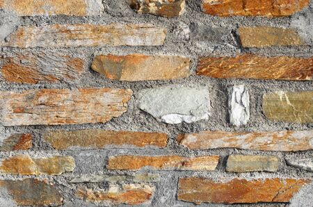 fine close up image of stone wall texture photo