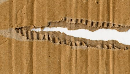 Corrugated cardboard fine detail close up background photo