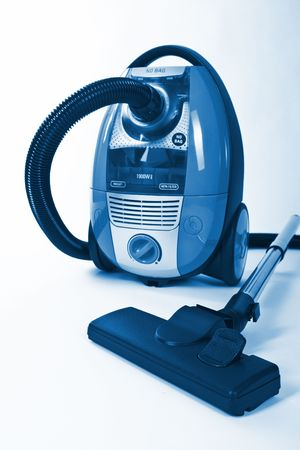 Isolated Stainless Steel Vacuum Cleaner background photo