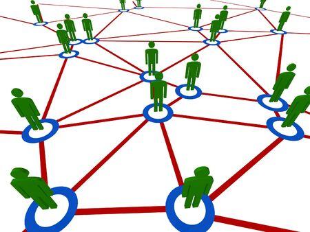 connection people fine 3d illustration business background Stock Illustration - 4678651