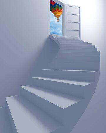 Stairway to the freedom illustration 3d concept background illustration