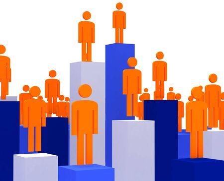 3d image of success people in business fine illustration Stock Illustration - 4721404