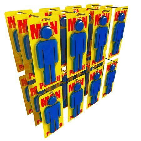 fine 3d image of man power worker metaphor Stock Photo - 4766480
