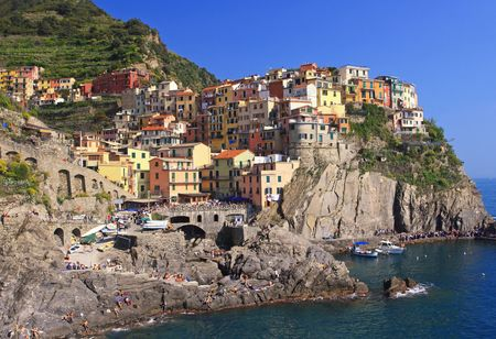 cinque terre, liguria, famous holiday place in italy photo