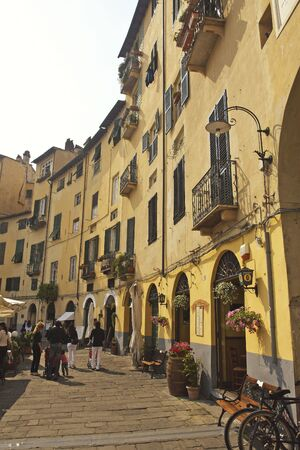 medioeval: lucca, tuscany italy, very famous historic medioeval town  Stock Photo