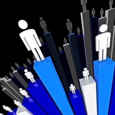 wartości: pracowników przedsiębiorstw 3d wykres stat tle