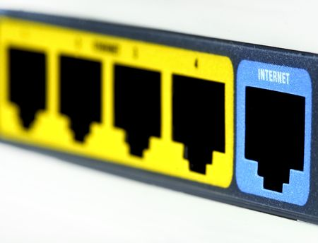 close up image of internet connection selective focus Stock Photo - 4848629