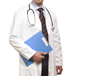 isolated detail of doctor with white clothes Stock Photo - 4844754