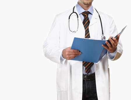 isolated detail of doctor with white clothes Stock Photo - 4844749
