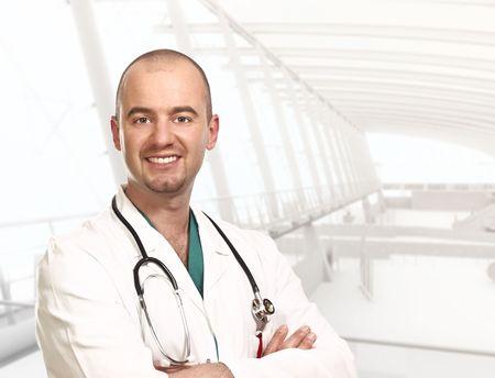 fine close up portrait of doctor inside a modern building Stock Photo - 4926716