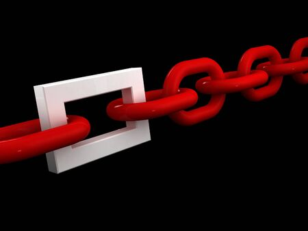 workteam: fine 3d image of white chain and different white ring