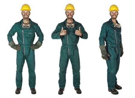 obrero: sonriente joven trabajador caucasian industria pesada trabajador manual