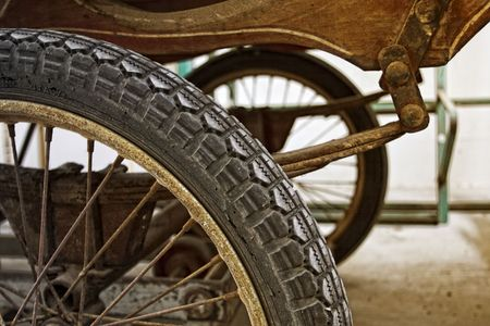waggon: fine image of waggon detail, classic old vehicle