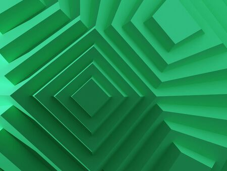 costruction: 3D image of futuristic green costruction background
