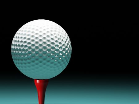 3d image of fine classic golf ball background photo
