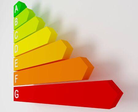 attested: energy label saver fine 3d image background