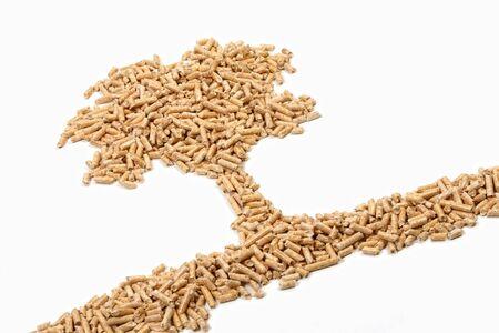 pellets: eco wood pellet alternative energy tree background