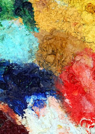 close up of classic art palette color background photo