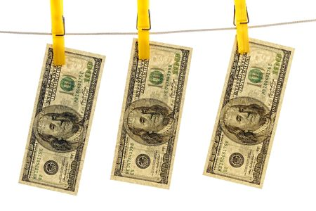 fine image of dollar waiting to dry background photo